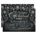 chalkboard winter onederland birthday invitation