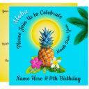 cheerful hawaiian birthday invitations