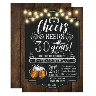 cheers and beers birthday invitations