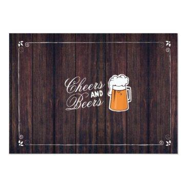 Small Cheers & Beers Birthday Party Beer Photo Invite 21 Back View