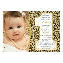 cheetah 1st birthday invitation | safari party