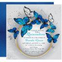 chic butterfly beauty modern quinceañera invitation