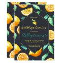 chic lemon citrus birthday invitation