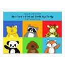childrens virtual birthday party invitation