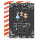 christmas glitter birthday invite ballet