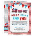 chugga chugga two two train birthday invitation