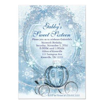 cinderella invitations, cinderella sweet sixteen invitations