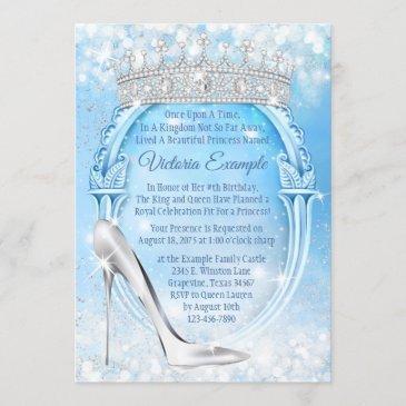 cinderella princess glass slipper quinceanera invitation