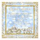 cinderella princess horse carriage quinceanera invitations