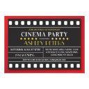 cinema birthday party any age theater film invitation