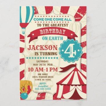 circus birthday invitation carnival invite