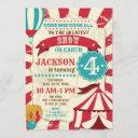 circus birthday invitation / carnival invite /show