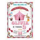 circus birthday invitations vintage carnival kids