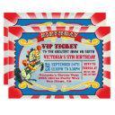 circus birthday party vip ticket invitation