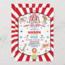 circus carnival birthday invitation circus party