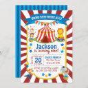 circus party invitation - circus birthday invite