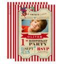 circus ticket 1 st birthday | party invitations