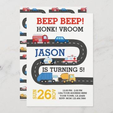 city cars invitation, 100% customizable invitation
