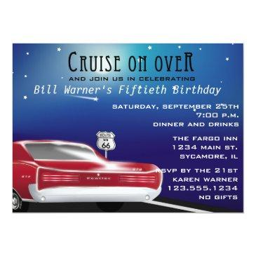 Cars Birthday Invitations BirthdayInvitationsU - Classic car invitations