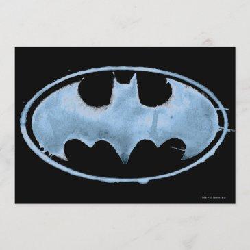 coffee bat symbol - blue invitation