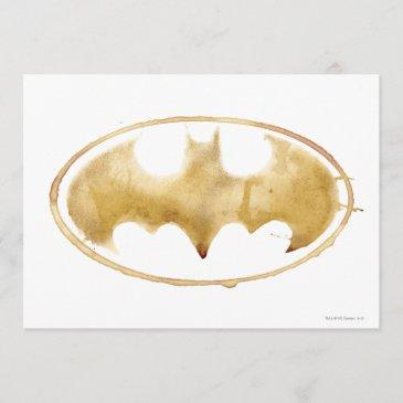 coffee bat symbol invitation