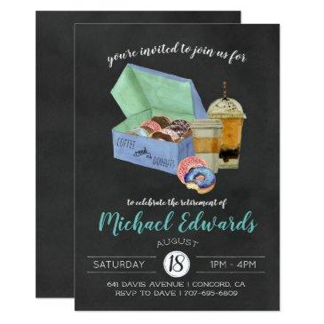 coffee & donuts party invitation