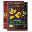 colorful mexican fiesta birthday party invitations