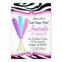 colorful rock candy birthday party invitations