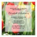 colorful spring tulips 80th birthday party invitation