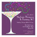 confetti cocktail birthday party invitations
