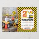 construction birthday invitation with photo