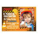 construction site birthday party invitations
