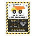 construction themed birthday party invitation