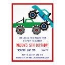 cool monster trucks birthday party invitations