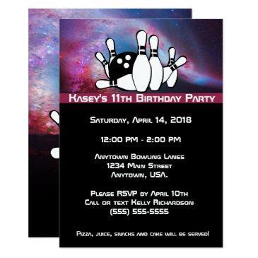 Bowling Birthday Invitations | BirthdayInvitations4U