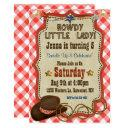 country western girl birthday invitation