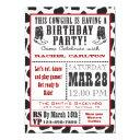 cow print cowgirl birthday invitations