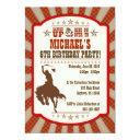 cowboy 6th birthday party invitation