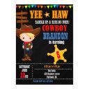cowboy birthday invitation country western ranch