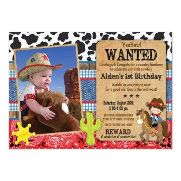 cowboy birthday invitations-wanted, western theme invitations