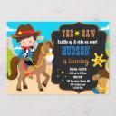 cowboy birthday invitation western invitation boy