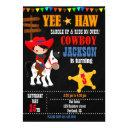 cowboy birthday invitation wild west western party