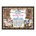 cowboy & cowgirl western birthday party invitations
