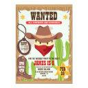cowboy western birthday invitation