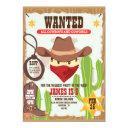 cowboy western birthday invitation