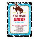 cowboy western old west birthday party invitations
