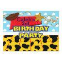 cowboy yee haw western birthday party invitations