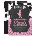 cowgirl birthday invitations bandana cow print