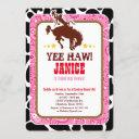 cowgirl western old west birthday party invitation