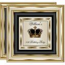 cream gold silver birthday prince king queen 2 invitations
